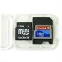 MINI SD card with SD adapter