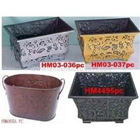 Tin Flower Pots,