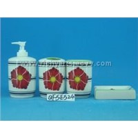 ceramic bathroom set s/4