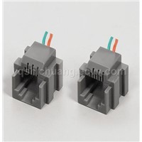 Wired PCB Jack/Telecom Connector(SC110 623K 6P)