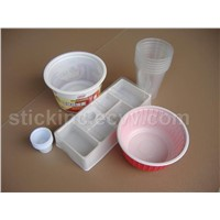 plastic disposable cups and containers