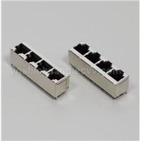 Network PCB Jack/Lan Connector(SC218 5224S 8P 1x4)