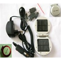 Solar energy charger for mobile phone