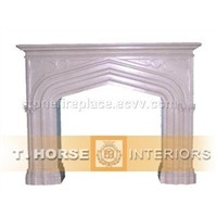 stone carving fireplace mantel