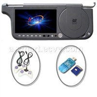 7inch Sun visor DVD monitor with Touch Screen, TV, FM