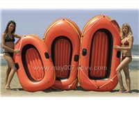 Inflatable Orange Boat