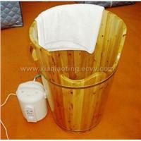 wooden steam foot sauna barrel (foot massage )