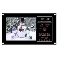 lcd multi-media player with cf card reader