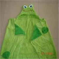 kid's hooded bath wrap