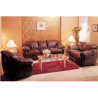 Traditional Style Brown Sofa