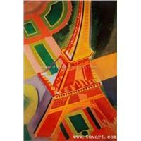 Handmade oil painting-Eiffel Tower