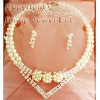 Wedding Necklace  & Earring Set