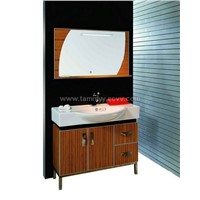 solid wood bathroom furniture V002