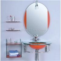 glass and ceramic basin in full set