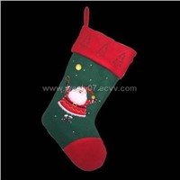 Flashing christmas stocking