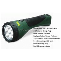 Rechargeable Mini Torch with 7 x LED and Foldaway