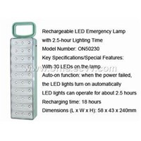 Rechargeable LED Emergency Lamp with 2.5-hour Ligh