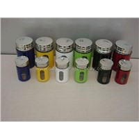Medium/small Spice Jar with Colours S/s Lid