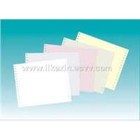 Plain carbonless continuous paper