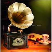 antiqued gramophone