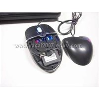 Optical mouse with SD/MMC card reader