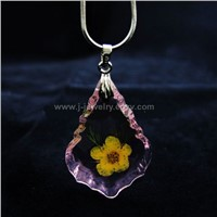 Ture flower amber necklace(ME4015)