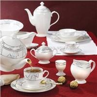 47pcs bone china dinnerware-platinum