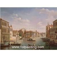 Street Scene Oil Painting (Landscape021)