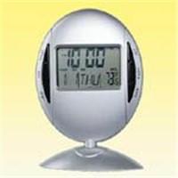 360 rotary digital clock in oval shape