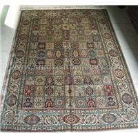 handknotted silk carpet