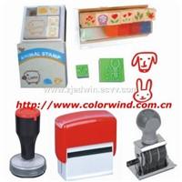 date stamp, number stamp, wood stamp, stamp pad