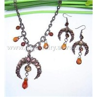 Gemstone Necklace Set (GDNE00160)