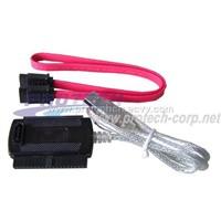 USB2.0 to IDE+SATA Cable Convertor