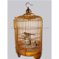 Decorative bamboo bird cage