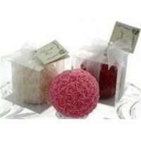 rose ball candle(decorative scented,wedding candle