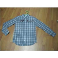 cotton shirt with soft washed