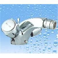 Dual Handle Vertical Bidet Faucet (CHUJ-02)