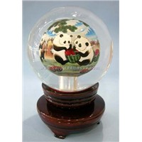 inside paint crystal ball gift