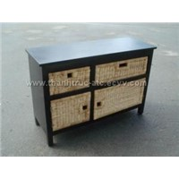 wicker cabinet - 010