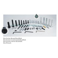 hex socket bolts, hex socket screws, hex wrench
