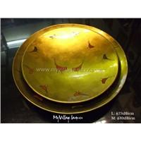 Lacquer round dish