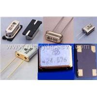 Crystal resonator, oscillator, Hybrid IC