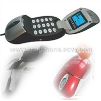 Skype Mouse Phone(Black and Red Color)