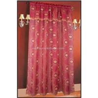voile P/D embroidery ready-made curtain