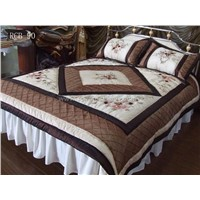 taffeta P/D embroidery patchwork bedding set