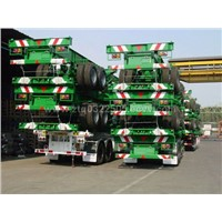 Item: 40' Gooseneck Skeletal Container Semi-traile