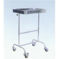 Full stainless double-arm lift tray stand
