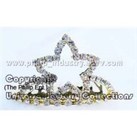 Smulated Swarovski Diamond Crystals Mini Tiara,Crown