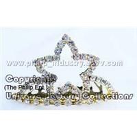 Smulated Swarovski Diamond Crystals Mini Tiara,Crown