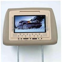 7inch  headrest TFT lcd with dvd player